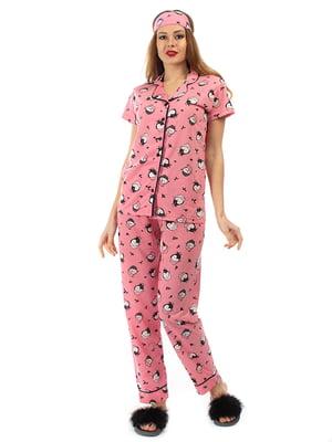 Пижама: рубашка, брюки и повязка на глаза | 5361702