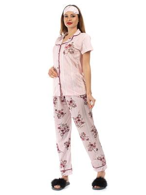 Пижама: рубашка, брюки и повязка на глаза | 5361703