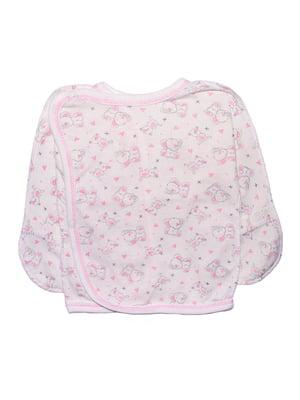 Распашонка розовая с принтом | 5361797