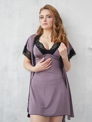Комплект: халат и рубашка ночная | 5362352