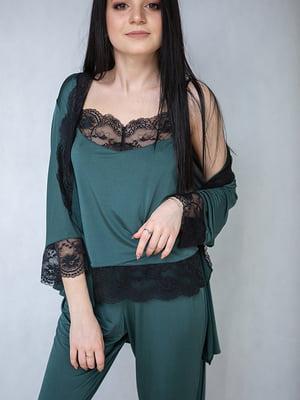 Комплект: брюки, майка и халат | 5362361