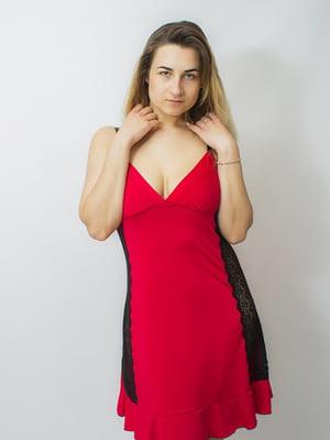 Рубашка ночная красная | 5362363