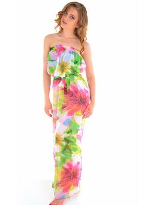 Платье пляжное в цветочный принт | 5363058