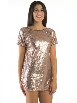 Платье пляжное бронзового цвета | 5363078