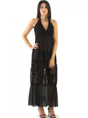 Платье пляжное черное | 5363083