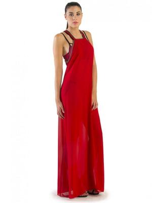 Платье пляжное красное | 5363084