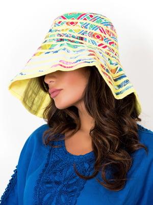 Шляпа желтая с принтом | 5363109