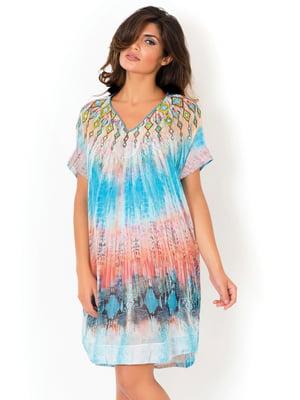 Платье пляжное в принт | 5363123