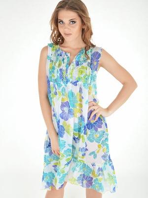 Платье пляжное в цветочный принт | 5363141
