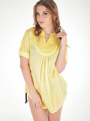 Платье пляжное желтое | 5363145