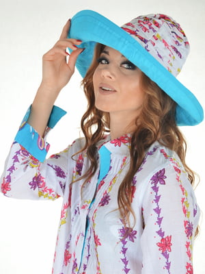Шляпа белая с принтом | 5363153