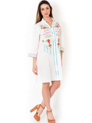 Туника пляжная белая с вышивкой | 5363164