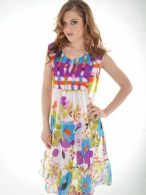 Платье пляжное в цветочный принт | 5363173