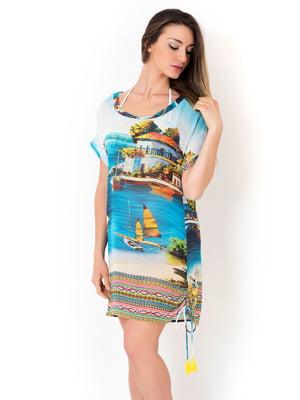 Платье пляжное в принт | 5363212