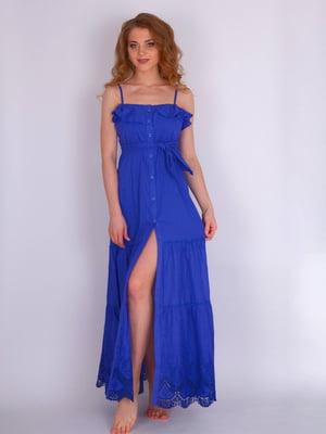Платье пляжное синее | 5363251