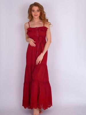 Платье пляжное красное | 5363252