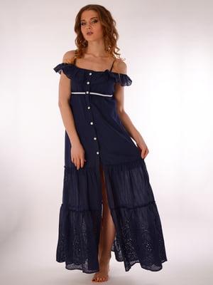Платье пляжное синее | 5363204