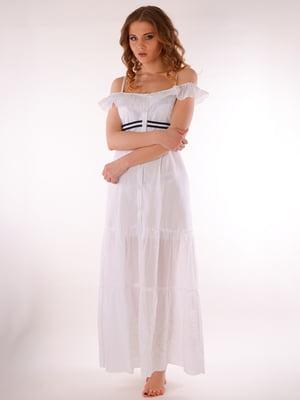 Платье пляжное белое | 5363205