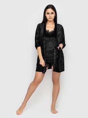 Комплект пижамный: майка, шорты и халат | 5363901