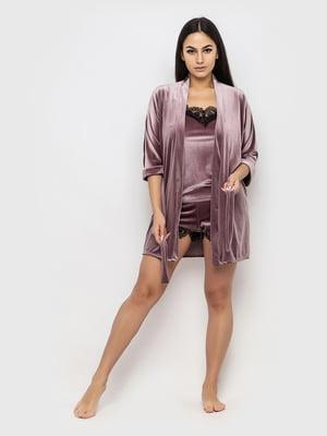 Комплект піжамний: майка, шорти і халат | 5363902