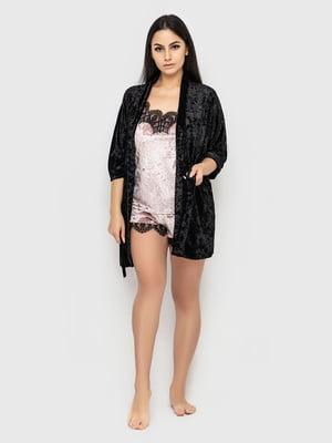 Комплект піжамний: майка, шорти і халат | 5363911