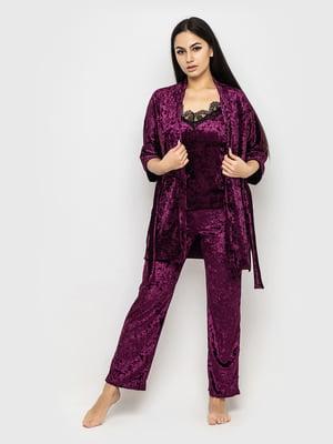Комплект піжамний: майка, штани і халат | 5363920