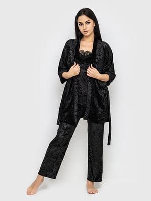 Комплект пижамный: майка, брюки и халат | 5363921