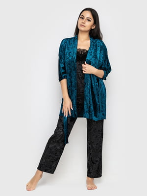 Комплект піжамний: майка, штани і халат | 5363924