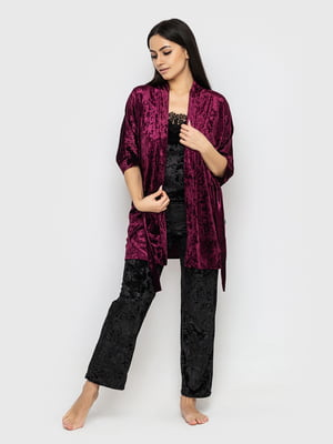 Комплект піжамний: майка, штани і халат | 5363929