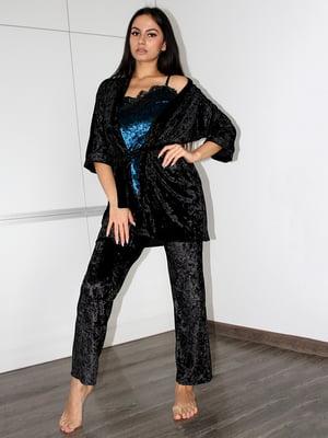 Комплект піжамний: майка, штани і халат | 5363932