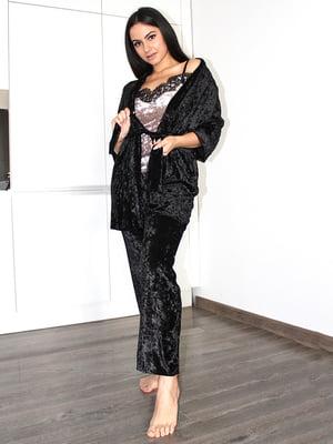 Комплект піжамний: майка, штани і халат | 5363933