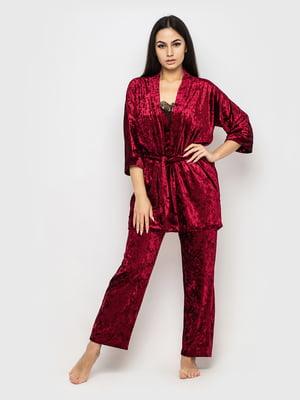 Комплект піжамний: майка, штани і халат | 5363935