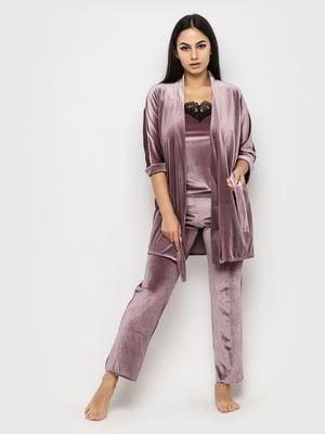Комплект піжамний: майка, штани і халат | 5363936
