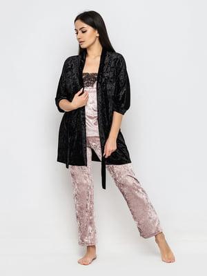 Комплект піжамний: майка, штани і халат | 5363938