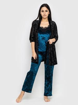 Комплект піжамний: майка, штани і халат | 5363940