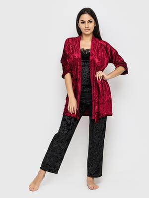 Комплект піжамний: майка, штани і халат | 5363942