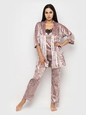 Комплект піжамний: майка, штани і халат | 5363967