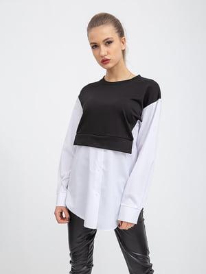 Рубашка черно-белая | 5364393
