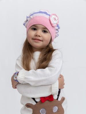 Шапка біло-рожева | 5364450