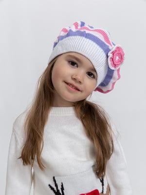Шапка рожево-біла | 5364452