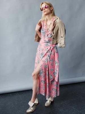 Платье розовое с принтом | 5364107