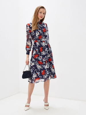 Сукня темно-синя в квітковий принт   5348861