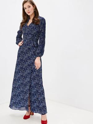 Сукня синя в принт   5348873