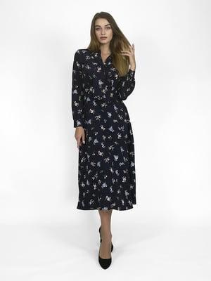 Сукня чорна в квітковий принт   5348881