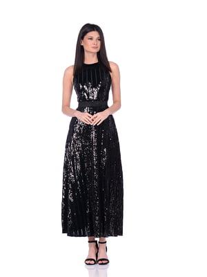 Сукня чорна в смужку | 5348912