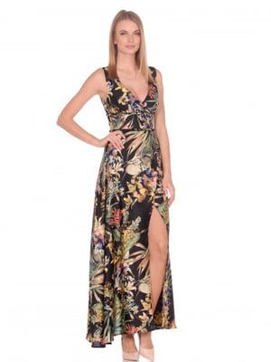 Сукня чорна в квітковий принт   5348914