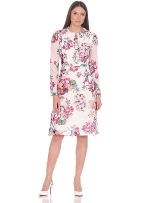 Сукня біла в квітковий принт | 5348929