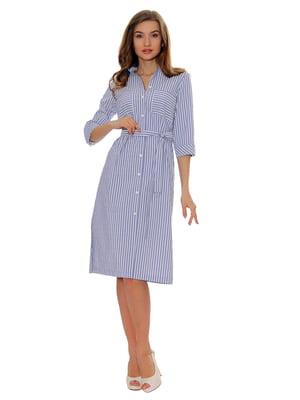 Платье-рубашка голубое полосатое   5366398