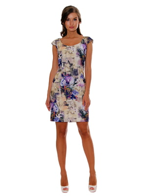 Платье фиолетовое в принт   5366404