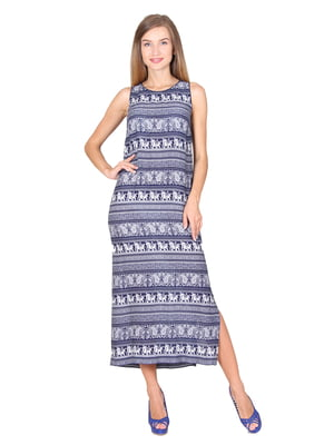 Платье синее в принт   5366408